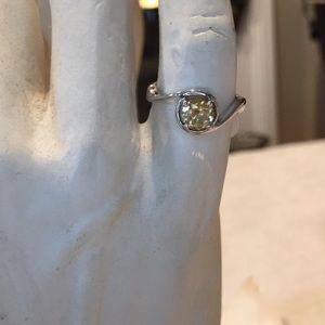 Yellow Gemstone Ring Size 7